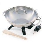 Palmer Wholesale Electric Wok Stainless Steel