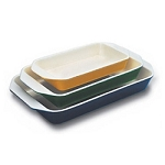 Chasseur Enamel Cast-Iron Rectangular Dish