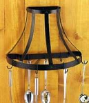 Blackhurst Windsor Half Round Pot Rack - Black
