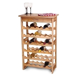 36 Bottle Wood Wine Rack