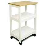 Catskill Craftsmen Utility Kitchen Cart - White