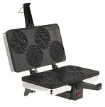 Cucina Pro Piccolo Pizzelle Baker W/Free Cone Roller