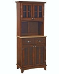 Home Styles Small Cherry Buffet /2-Door Hutch /W Natural Top