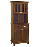 Home Styles Small Cherry Buffet /2-Door Hutch /W Cherry Top
