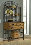 Home Styles Buffet & Hutch Bakers Rack - Oak Hill collection