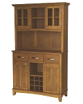 Home Styles Large Cottage Oak Buffet /2-Door Hutch /W Cottage Oak Top