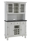 Premier White Buffet /2-Door Hutch /W Black Granite Top