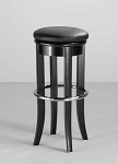 "Home Styles 30"" Bar Stool w/ Swivel Top - Black/Brushed Steel"