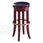 "Home Styles 30"" Bar Stool w/ Vinyl Swivel Top - Cherry/Antique Brass"