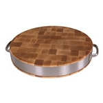"John Boos 15"" Chopping Block w/ SS Band and Handles"