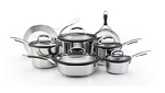 Kitchen Aid Gourmet Cookware Set 12pc Stainless
