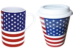 Konitz Coffee to Stay/to Go American Flag - Set of 2