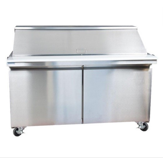 Universal USPT60 60' Two Door Sandwich Prep Table Refrigerator