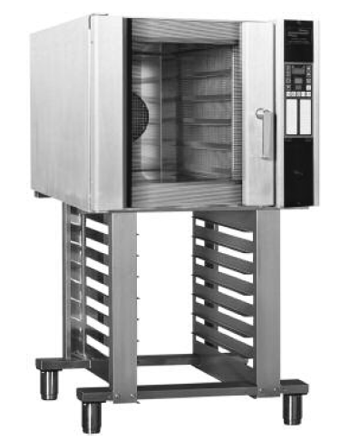 Belshaw Adamatic TI08S - Soft Flow Electric Convection Oven Double Stack Stand