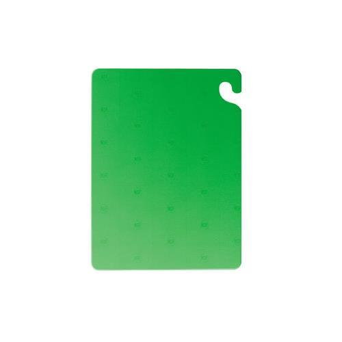 "San Jamar CB152012GN Kolorcut Cutting Board, 15""X20""X1/2"", Green"