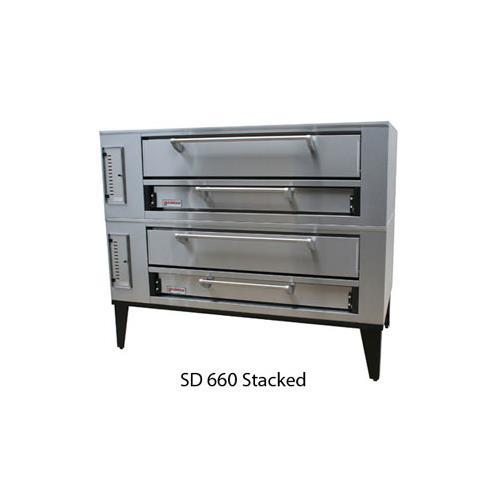 Marsal and Sons SD-660 STACKED Marsal Pizza Deck Oven, Double Deck