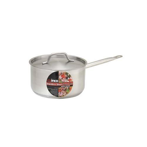 Winco SSSP-2 Master Cook Sauce Pan with Cover, 2 Quart