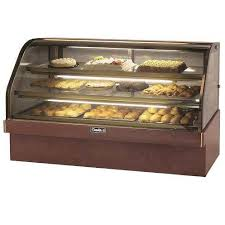 "Leader MCB77-D 77"" Marble Curved Bakery Display Case Dry, Pastry & Donut Display - Dry, Pastry & Donut Display"