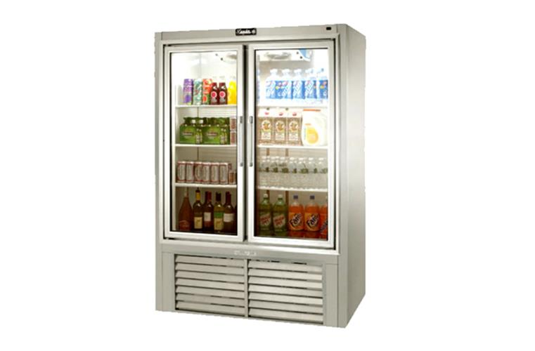 "Leader PS48- 48"" Swinging Glass Door Reach In Refrigerator/ Self Contained,  34 Cu.Ft."