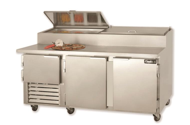 "Leader ESPT72 - 72"" Pizza Prep Table - ETL, 24.6 Cu.Ft."