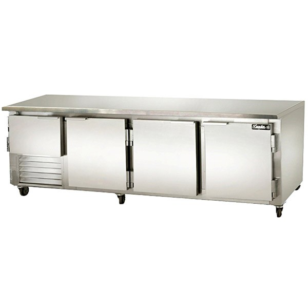 "Leader LB-96- 96"" Low Boy Cooler Undercounter, 35.0 Cu.Ft. Solid Door"