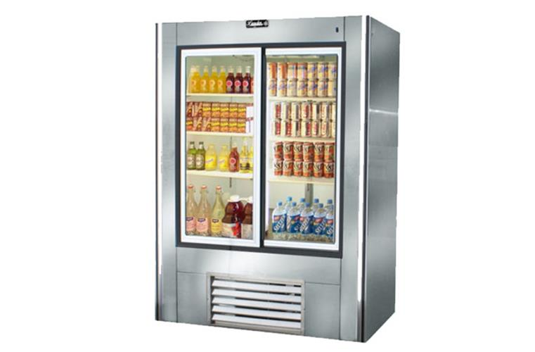 "Leader ESLS54- 54"" Sliding Glass Door Reach In Refrigerator- ETL Sanitation, 38 Cu.Ft."