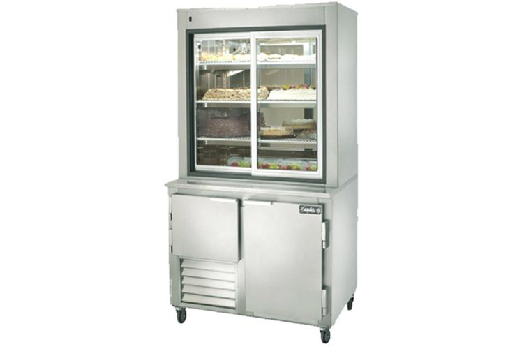 "Leader PC36- 36"" Dessert Display Case With Refrigerated Storage/ Self Contained, Pastry & Donut Display"