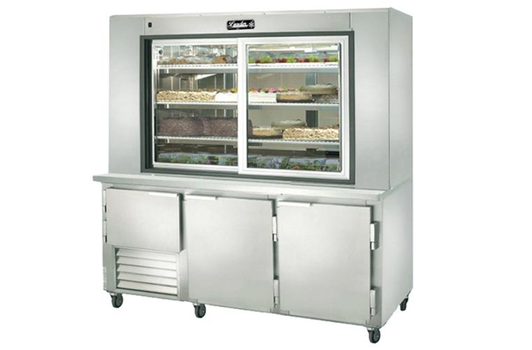 "Leader PC60- 60"" Dessert Display Case With Refrigerated Storage/ Self Contained, Pastry & Donut Display"