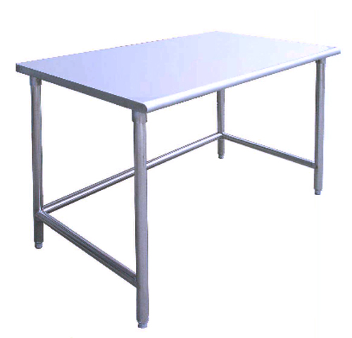kitchen 72 x 30 stainless steel work table food prep open base
