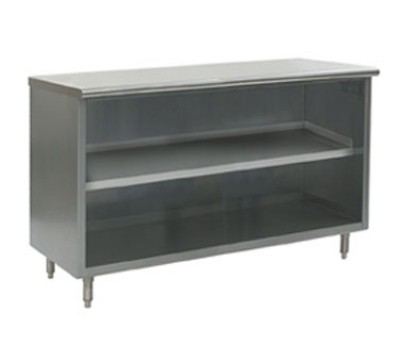 Evoo (EST-316-84) Stainless Steel Storage/Dish Cabinet - Optional Doors - 84