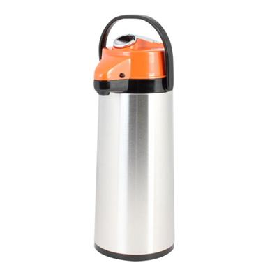 Thunder Group ASLG025D-  2.5 L Glass Lined Stainless Steel Plastic Airpot w/ Lever Pump- Decaf