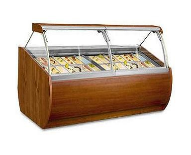 Universal Coolers ARUBA8SC - Gelato Display Case - 28 Pans - 104