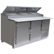 Universal Coolers MPP-6 - Pizza Prep Table - Marble Top - 72
