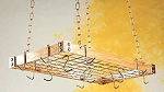 Rogar Wood/Metal Pot Rack - Light Wood