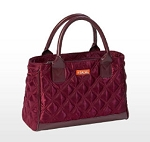 Sachi Burgundy Quilted Insulated Lunch Bag