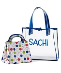 Sachi Clear/Blue Circle Insert Sachi Lunch Bag