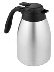 Serving Carafe - Stainless/Black 51 oz