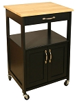 Catskill Craftsmen Kitchen Trolley - Black Base
