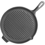 "Universal Pre-Seasoned Cast Iron 10"" Round Griddle"