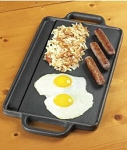 "Universal Pre-Seasoned Cast Iron 12""x8"" Reversible Griddle"
