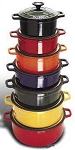 Chasseur Round Enamel Cast-Iron Dutch Oven