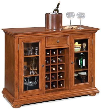 Home Styles Homestead Bar Cabinet - Cherry/Oak Finish