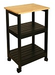 Catskill Craftsmen Utility Kitchen Cart - Black