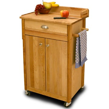 Catskill Craftsmen Cuisine Cart w/ Backsplash & Galley