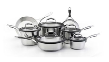 Kitchen Aid Gourmet Cookware Set 10pc Stainless