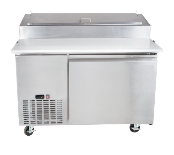 Universal UPPT50 50' One Door Pizza Prep Table Refrigerator