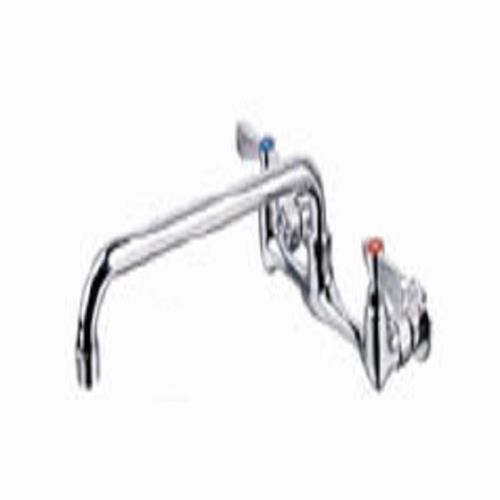 "Evoo (EFC-16) 16"" Swing Spout Sink Faucet Wall Mounted with 8"" Center"