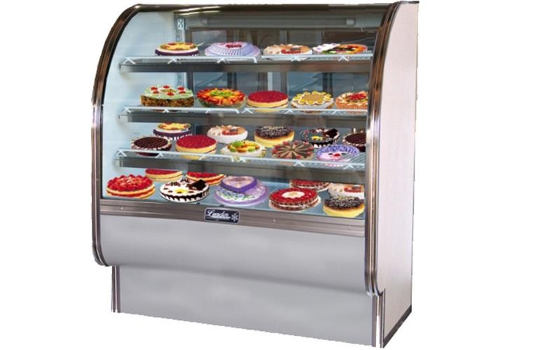 "Leader CVK36-D 36"" Curved Glass Bakery Display Case/Dry, Pastry & Donut Display"