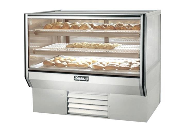 "Leader CBK48- 48"" Refrigerated Bakery Display Case - Counter Height/ Self Contained, Pastry & Donut Display"