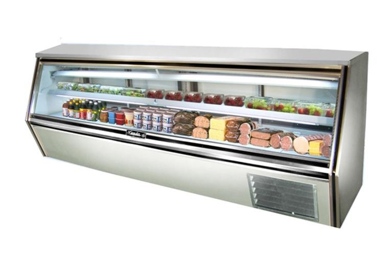 "Leader CDL118- 118"" Refrigerated Glass Counter Deli Case/ Self Contained"